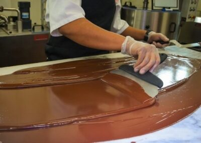 Chocolate hand tempering
